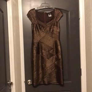 Gorgeous bronze cocktail dress